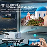 Zoom IMG-1 toptro 5g wifi bluetooth proiettore