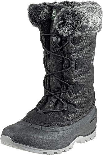 Kamik Women's MOMENTUM2 Snow Boot, Black, 10 Medium US