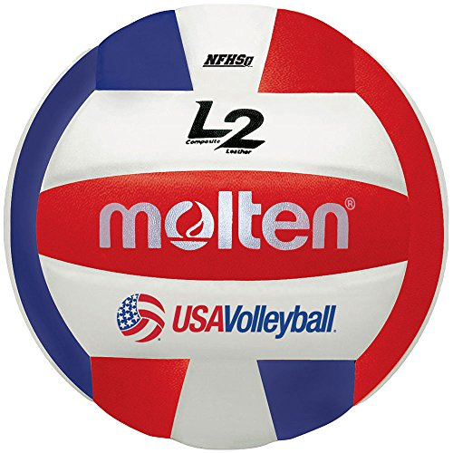 Molten Premium Competition L2 Volleyball, NFHS Approved, Red/White/Blue