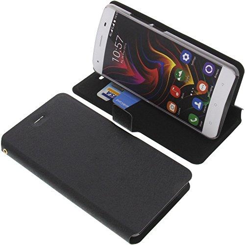 foto-kontor Tasche für Oukitel C5 Pro Book Style schwarz Kreditkarte Schutz Hülle Buch