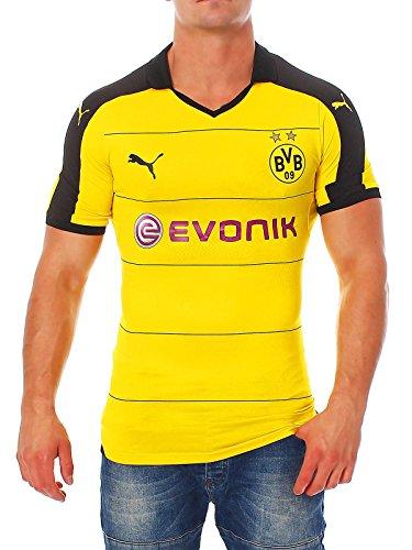 PUMA Herren Trikot BVB Home Shirt ACTV Authentic with Sponsor, Cyber Yellow-Black, M