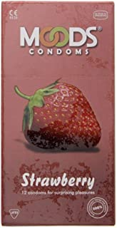 Moods Strawberry Condoms, 12 Pieces
