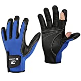 ARBOT Waterproof Fishing Gloves for Men and Women,Neoprene Windproof Gloves Convenient for Photography Touching Screen