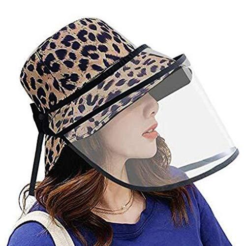 Cegduyi - Sombrero de protección extraíble para mujer, diseño de sombrero, color negro