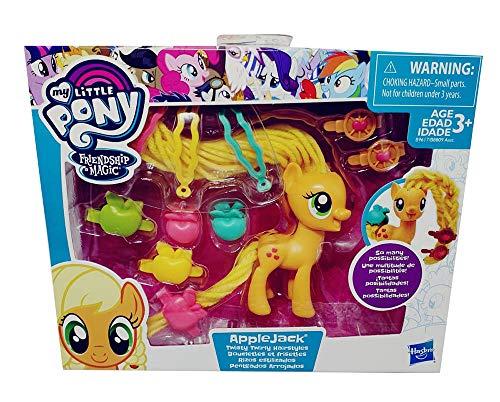 MLP My Little Pony speelfiguurset, pony's voor kappers met accessoires zoals clips en clips, speelset voor kinderen, meisjes, voor verzamelen en spelen (Applejack (oranje))