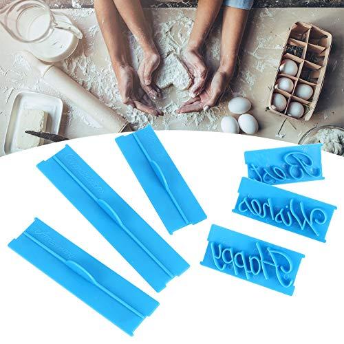 Fácil de usar Navidad de pastel, 3 set Decoración de pastel de plástico (azul)