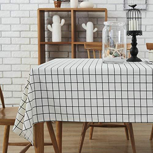 Haoxp voor binnen en buiten, onderhoudsarm, slaapzaal, schrijftafel_in eenvoudige Nordic tv-kast, achtergrond, doek, vierkant, rooster, slaapzaal, schrijftafel, maaltijd Nordic White Plaid_120 x 160 cm
