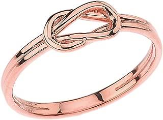 Modern 10k Rose Gold Hercules Love Knot Promise Ring