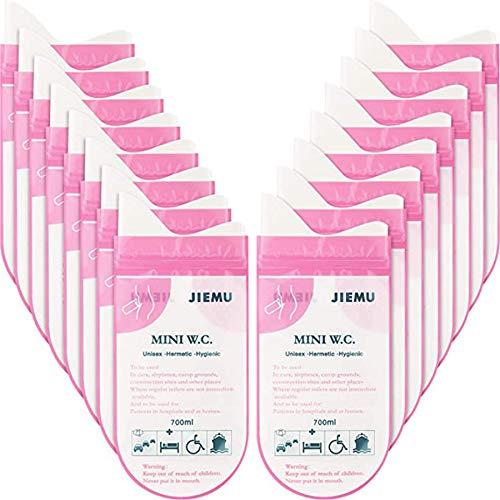 CYC 16 Piezas de Bolsas de Orina 700ml Desechables Bolsa de Uninario Portátil para Inodoro de Orinal de Cámping Viaje Alpinismo Atasco de Tráfico Bolsa de Orina de Emergencia