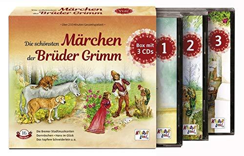 Die schönsten Märchen der Brüder Grimm: 3 CDs im Schuber - Kinderland