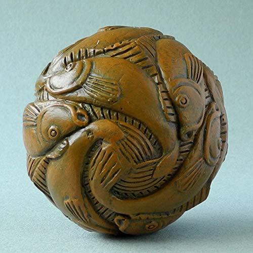 M. C. Escher - Scultura 'Spher' con pesce e pallina di museo, in confezione regalo
