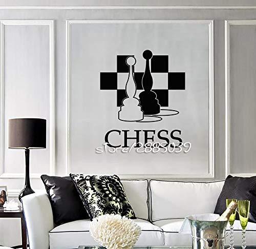 Njuxcnhg Wandaufkleber Schachbrett Club Schachbrett Ungiftig PVC Hohe Qualität Heißer Anfänger Sa918
