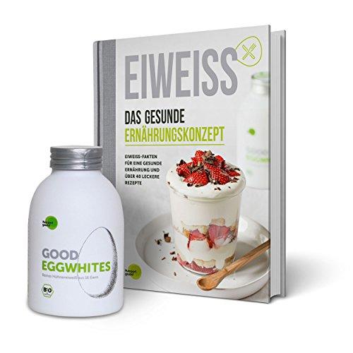 Eiweiß-Paket Gesunde Ernährung: 1 Flasche Good Eggwhites (Bio-Eiklar) & das Ernährungsbuch v. Pumperlgsund