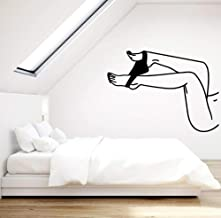JiuJiu.YanCo,Ltd Woman Vinyl Wall Decal Hot Naked Girl Beautiful Legs Wall Home Bedroom Living Room Stickers Art Mural41x30cm