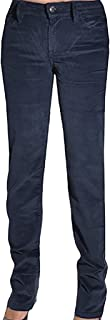 Calvin Klein Womens Stretch Straight Leg Slim Fit Corduroy Pants, Submerge, 8x30