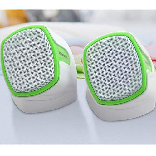 Tragbarer Desktop-Computer Subwoofer Rotary Audio USB-Kleinlautsprecher Multimedia Audio-Weiß und Grün Notebook Laptop