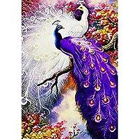 50*70Cm Diyピーコック5Dダイヤモンド絵画フルスクエアドリルクロスステッチラインストーンモザイク動物ダイヤモンド刺繡モザイク家の装飾-D