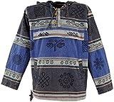 Guru-Shop Goa Kapuzenshirt, Baja Hoody Nepalhoodie, Herren, Blau, Baumwolle, Size:XL, Sweatshirts & Hoodies Alternative Bekleidung