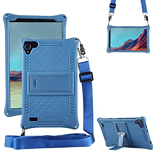 Funda para tablet Samsung Galaxy Tab A 8.0 2019 SM-T290/T295 Slim Soft Silicona a Prueba de Golpes Funda Protectora de Cuerpo Completo Funda de Lápiz Lápiz y Correa para el Hombro