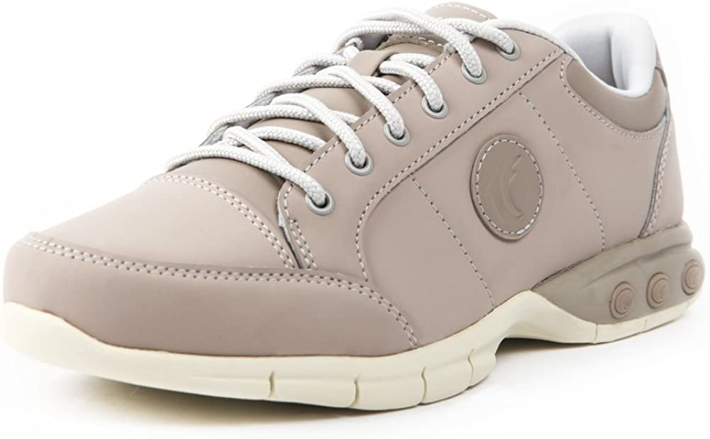 Therafit Shoe Women's London Leather Active Oxford Walking Shoe 6.5 Beige