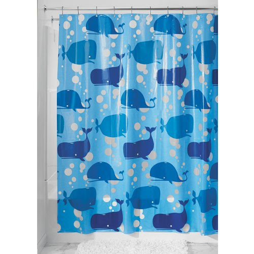 Swimming Whales Shower Curtain