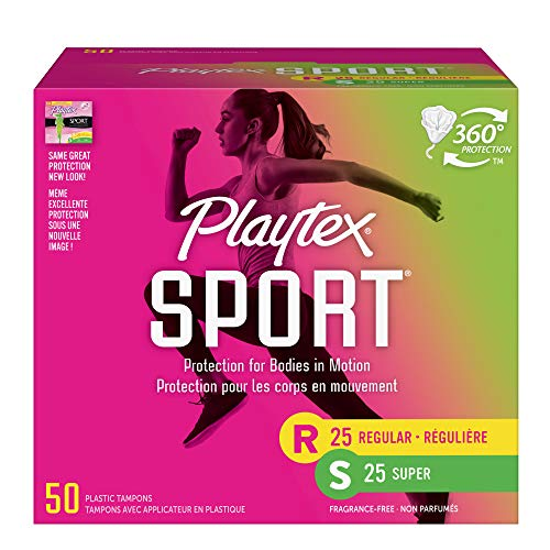 Playtex Sport Tampons Unscented, 25 Regular, 25 Super by Playtex