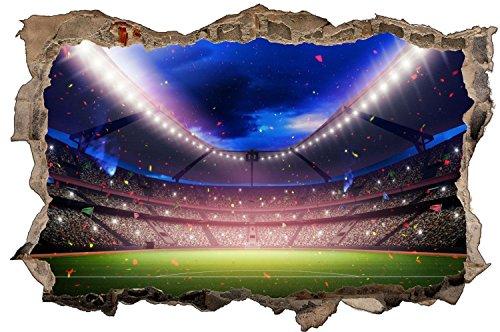 Fussball Stadion Wandtattoo Wandsticker Wandaufkleber D1212 Größe 120 cm x 180 cm
