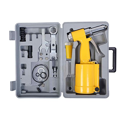 Toolsempire Pneumatic Air Hydraulic Pop Rivet Gun Riveter Riveting Tool Kit