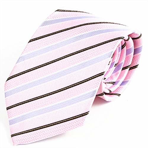 ZSRHH-Neckchiefs Halstücher Herren Krawatte Feiner Anzug Business Krawatte Lässige Krawatte Polyester Krawatte Rosa Schwarz Blau Dreifarbige gestreifte Krawatte