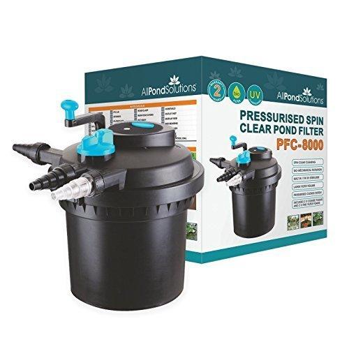 A Presion Estanque Filtro 6000 Con 11w ULTRAVIOLETA Esterilizadora Ligera - Soluciones Para Todos Los Estanques CPF-5000