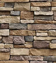 3D sticker Self adhesive wallpaper background wall simulation rock brick wallpaper painting dining decoration living room ...