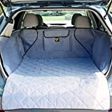 FrontPet Quilted Dog Cargo Cover for SUV, Universal Fit for Any Animal, Durable Liner Covers to Protect Your Vehicle, Grey
