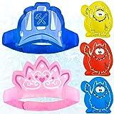 Bolsas de gel frío calor para niños, divertidos y reutilizables. Compresas gel hielo para lesiones: hinchazón, fiebre, dolor de cabeza, alivio del dolor. 5 packs de fisioterapia, de Magic Gel