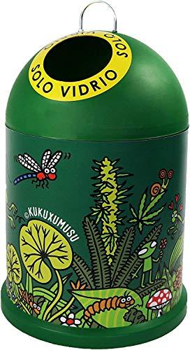 TIENDA EURASIA - Cubo de Basura para Reciclaje de Vidrio Original, Medidas: 29x29x45cm (Insectos)