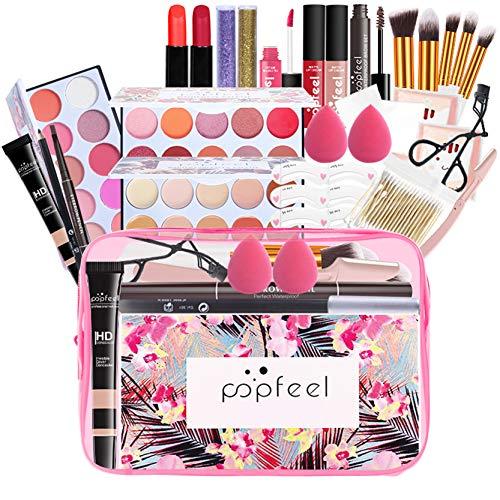 FantasyDay® 5Pcs Palette de Maquillage Kit de Maquillage Set de Maquillage Fêtes Cosmetic Kit Ombre à Paupières Comprenant Mascara, Eyeliner, Crayon à Sourcils, Rouge à Lèvres et Correcteur Stick #2