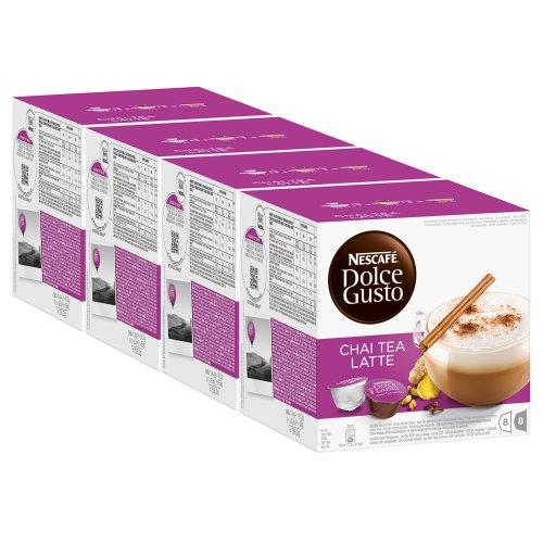 Nescafé Dolce Gusto Chai Tea Latte, Tee, Teekapsel, 4er Pack, 4 x 16 Kapseln (32 Portionen)