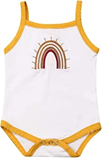 Baby Girls Rompers, Rainbow Onesies Sleeveless Bodysuit Camisole, One Piece Jumpsuit Summer Clothes