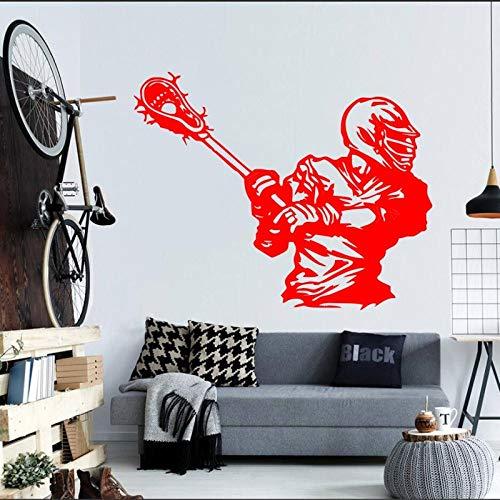 Geiqianjiumai Muursticker Amerikaanse Hockey Speler Sport Bal Game Vinyl Sticker Huisdecoratie Woonkamer Muursticker