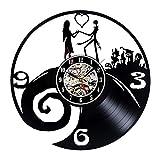 Gullei.com Nightmare Before Christmas Theme - Reloj de pared de vinilo para amantes...