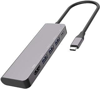 HUATINGRHDS Inteligente Docking Station, Estación de Acoplamiento HUB multifunción Tipo C 5 en 1 Computadora MacBook Hub U...