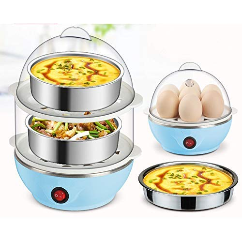 ORICAL SALES Double Layer Egg Boiler Idli Maker Vegetables Multi Steam Electric Cooker/Poacher (Colour May Vary)