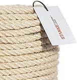 Seilwerk STANKE Sisalseil für Kratzbaum Seil 8 mm Kratzbaumseil 100% Katzen Naturseil handgedreht, 50 m