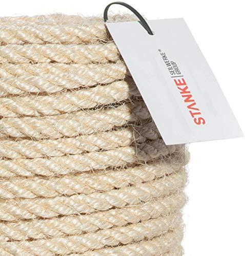 Seilwerk STANKE Sisalseil für Kratzbaum Seil 20 mm Kratzbaumseil 100% Katzen Naturseil handgedreht, 5 m