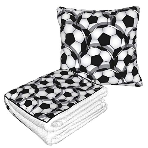 Manta de forro polar suave 2 en 1, para sofá, cama, oficina, para hombres y niñas