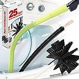Holikme 3Pack Dryer Vent Cleaner Kit, Dryer Vent Cleaning Brush& Dryer Lint Vacuum Attachment&Flexible Dryer Lint Brush, Light Yellow