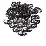 Paruks ヘアピン 黒 ウィッグ用固定ピン ヘアクリップ 留め金具 エクステ 帽子用 20個 I clip