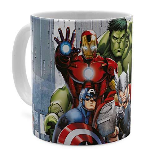 PhotoFancy Tasse Marvel mit Namen personalisiert - Design Avengers Assemble Group Scene