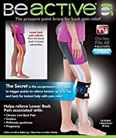 Be ACTIVE Brace Acupressure Pad Back Pain Sciatica As Seen on TV (Pack of 3) by Natures Pillows