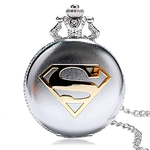 Men's Pocket Watch, Retro Superman Pocket Watch Men Boy Watches, Gifts for Men Women
