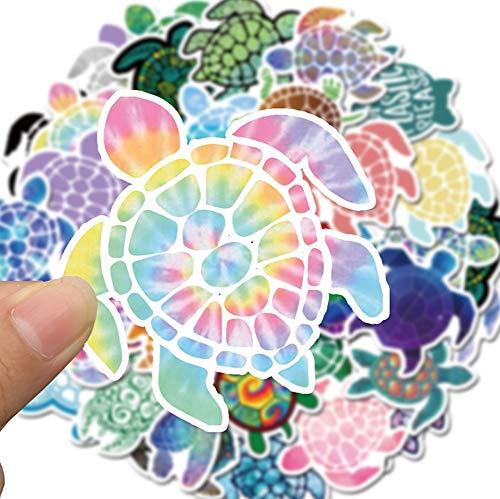 QIANGWEI Sticker, 41 stuks, kleurrijke schildpad, schattige pvc, waterdichte skateboard-tas, koelkast, telefoon, laptop, computer, gitaar, motorfiets